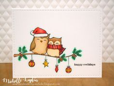 Handmade by Michelle: Challenge me a Christmas Card with Karren Johnson