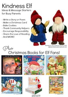 Kindness Elf Ideas and Messages for encouraging literacy and kindness this holiday season. PLUS a list of Christmas Elf Books for children! Merry Christmas To All, Christmas Books, Christmas Elf, Preschool Christmas, Christmas Activities, Christmas Traditions, Elf On Shelf Notes, Kindness Elves, Kindness Ideas