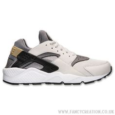 Men'S Nike Air Huarache Run Running Shoes Black Lightashgrey Coolgrey Well For Walk