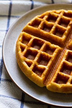 Cornbread waffles - made with only masa harina flour, and rice flour to replace cornmeal as I didn't have it. Tastes like cornbread in waffle form:) Cornmeal Waffles, Pancakes, Waffle Maker Recipes, Cronut, Chicken And Waffles, Morning Food, Churros, Breakfast Recipes, Breakfast Ideas