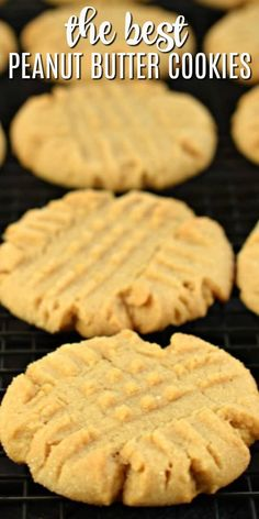 Best Soft and Chewy Peanut Butter Cookies Recipe - Perfect Peanut Butter Cookies. Soft and chewy, easy to make, and topped with a sweet sugar coating. -The Best Soft and Chewy Peanut Butter Cookies Recipe - Perfect Peanut Butter Cookies. Soft a. Chocolate Cookie Recipes, Easy Cookie Recipes, Chocolate Chip Cookies, Dessert Recipes, Chocolate Chips, Easy To Make Cookies, Making Cookies, Delicious Cookie Recipes, Chewy Peanut Butter Cookies