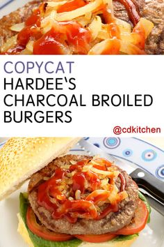 A recipe for Hardee's Charcoal Broiled Burgers made with ground beef, salt and freshly ground black pepper, butter or regular margarine, onion Empanadas, Homemade Beef Burgers, Great Recipes, Favorite Recipes, Recipe Ideas, Beef Sliders, Copykat Recipes, Mini Burgers, Wrap Sandwiches