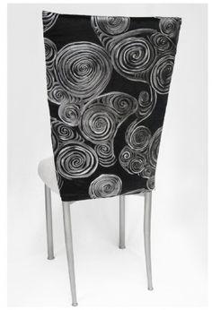 Black Scroll Print Black Large Swirl Leather Embossed Velvet