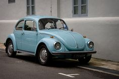 baby blue VW beetle bug I by hsalnat, via Flickr