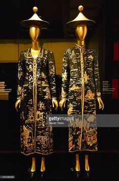 House of Chanel, Karl Lagerfeld, House of Lesage, evening coat, fall/winter 1996-97, Haute Couture on display at 'China: Through the Looking Glass' press preview at the Temple of Dendur at Metropolitan Museum of Art on May 4, 2015 in New York City..