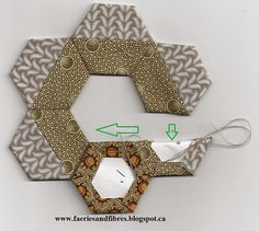 Faeries and Fibres: Tutorial: Pieced hexagons and open dounts
