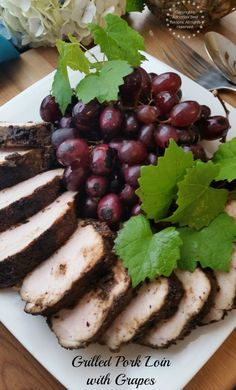 Grilled Pork Loin with Grapes