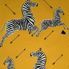Scalamandre zebras, marigold, black, white