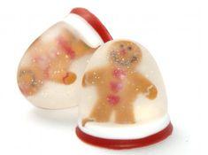 DIY Handmade Gingerbread Man Snow Globe Soap - Cute Homemade Stocking Stuffer Gift Idea