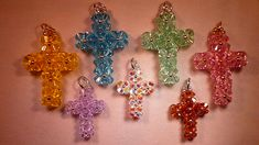 Colgante Cruz Apayala Swarovski Beaded Cross Pendant Tutorial