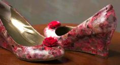 Mod Podge shoes. I would make them without the flowers.