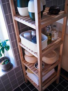 Ideas For Bathroom Sink Rustic Storage Bathroom Organisation, Ikea Bathroom Storage, Bathroom Closet, Ikea Organization, Bathroom Hacks, Rustic Bathrooms, Easy Home Decor, Bathroom Interior, Small Bathroom Furniture