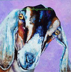 Original Nubian Goat Oil Painting 12x12