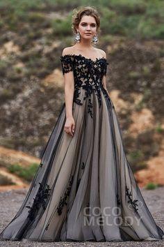 925b81042a A-Line Sweep-Brush Train Tulle Wedding Dress LD5830