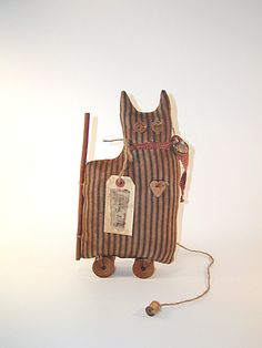 Cat Shelf Sitter Primitive Doll Primitive by thecattsuglybabies