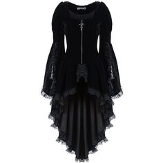 Gothic Noble Velvet Cocktail Jacket by Dark in Love ($98) ❤ liked on Polyvore featuring outerwear, jackets, velvet jacket, gothic jackets, special occasion jackets, gothic velvet jacket and evening jackets