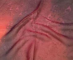 "Hand Dyed Magenta - Silk Chiffon (11""x12"")"