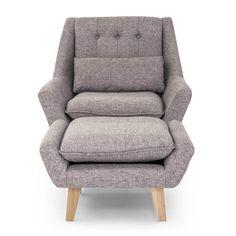 Stuart Mid Century Modern Lounge Chair