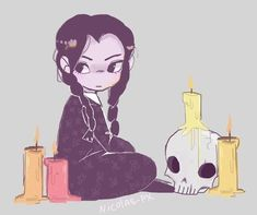 The Addams Family - Wednesday Addams Die Addams Family, Character Art, Character Design, Dibujos Cute, Creepy Cute, Dark Art, Cute Art, Art Inspo, Art Reference