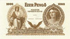Hungarian banknotes Old Money, Banknote, Hungary, Mona Lisa, Coins, Princess Zelda, Artwork, Fictional Characters, Paper Envelopes
