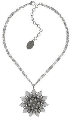 Halskette hängend Arabic Nights white/grey