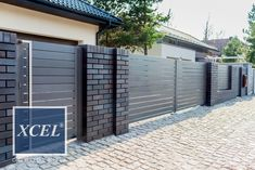 Shades of Bronze House Front Wall Design, House Fence Design, Front Yard Garden Design, Front Gate Design, Main Gate Design, Door Gate Design, Gate Designs Modern, Modern Fence Design, Modern Gates