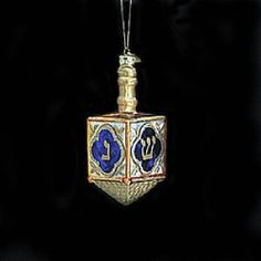 Amazon.com: Kurt Adler 4-Inch Noble Gems Glass Jewish Dreidel Ornament: Home & Kitchen