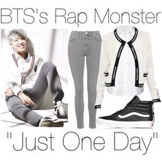 BTS's Rap Monster ~ Just One Day    KPop by banana-lee on Polyvore featuring Chanel, T By Alexander Wang, Topshop, Vans, women's clothing, women's fashion, women, female, woman and misses
