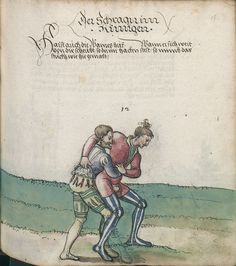 Title: Goliath (MS Germ.Quart.2020), Page: Folio 117r, Date: 1510-1520 Medieval Art, Medieval Fantasy, Historical European Martial Arts, Early Modern Period, Landsknecht, Chivalry, Western Art, Middle Ages, Science Fiction