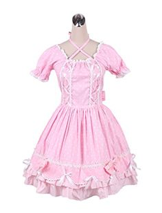 Antaina Rosa Hosentr/äger Baumwolle Layered Bowknot Plissee Lolita Rock Kurzes Kleid Knielang Elegant Faltenrock