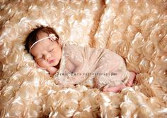 Light Tan Lace Stretchy Fabric Wrap - Newborn Baby Girl Photograpy Prop - Ready to Ship. $10.00, via Etsy.