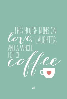 Ha! This is us every morning!  We cannot function w/o hot caffeine & Jesus flowing through our veins!