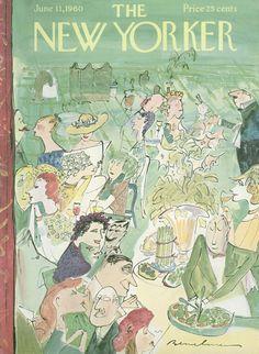 Ludwig Bemelmans : Cover art for The New Yorker 1843 - 11 June 1960