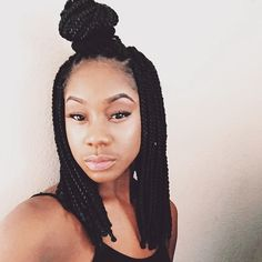 65 Box Braids Hairstyles for Black Women Box braids hairstyles are one of the most popular African American protective styling choices. Summer lifts the percentage significantly with activities. Box Braids Hairstyles For Black Women, Braids For Black Women, Black Braids, African Hairstyles, Black Hairstyles, Urban Hairstyles, Curly Hairstyles, Medium Box Braids, Short Box Braids