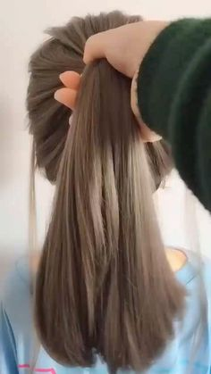 hairstyles for long hair videos - Frisuren - Cheveux Easy Hairstyles For Long Hair, Wedding Hairstyles, Beautiful Hairstyles, Bridal Hairstyle, Stylish Hairstyles, Hairstyle Short, Easy Ponytail Hairstyles, Office Hairstyles, Natural Hairstyles