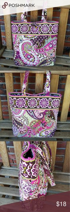 Vera Bradley Multi color Paisley Tote Shopper Mint condition.  No foul odor and in perfect shape and color.  Non smoking environment Vera Bradley Bags Totes