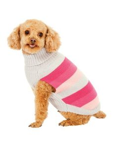 Fashion Pet Pink Best in Stripe Dog Sweater Small from Ethical Products/Fashion Pet  $8.06  www.buydogsweaters.com