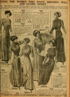 1912 Dresses from Sears & Roebuck Catalogue, pg. 2