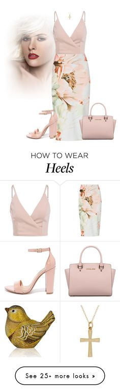 """Untitled #1235"" by cardigurl on Polyvore featuring Michael Kors, Steve Madden and Judith Leiber"