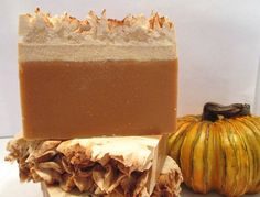 Frosted Pumpkin Handmade Cold Process Soap, great for fall!