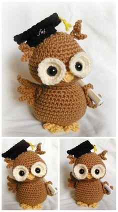 Crochet Newton the Graduation Owl Amigurumi Paid Pattern