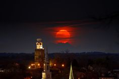 Final edit with the super moon enlarged and placed behind the clock tower photo. All this was done in Gimp. I used a Pentax Kx with a Tamron 80 to 300 zoom lens.  Back to original image: https://www.pinterest.com/pin/460563499371070381/ OR, here's another fun shot I did for my daughter the Dr Who addict: https://www.pinterest.com/pin/460563499369834019/