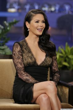 V-necktops will flatter your chest catherine zeta jones
