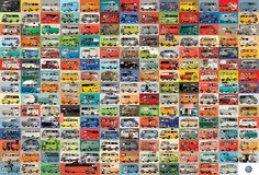 Take a trip on the groovy bus! Loved around the world, these fun, flexible campers are also known as the VW bus, kombi, microbus and transporter. Rv Gifts, Gifts For Campers, Cool Campers, 2000 Piece Puzzle, Campervan Gifts, Volkswagen Type 2, Best Classic Cars, American Muscle Cars