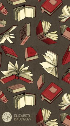 Elizabeth Baddeley mobilebackgrounds is part of Book wallpaper - I Love Books, Good Books, Books To Read, Reading Books, Book Wallpaper, Wallpaper Backgrounds, Reading Wallpaper, Red Wallpaper, Iphone Backgrounds