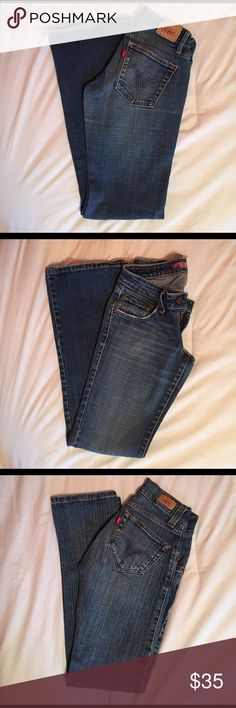 Levi's Jeans Two pairs of pre-loved Levi's. The first two pictures are a boot cut, 524 size 1, and the second two are a straight leg 504 size 0- both short. Feel free to ask any questions and make offers! Levi's Jeans Straight Leg