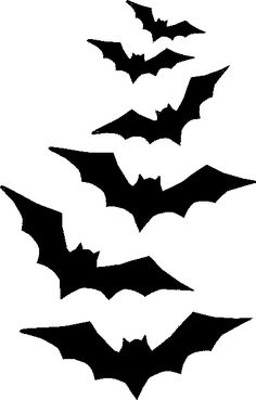 Try out these free halloween stencils printable stencils for Animated flying bat decoration