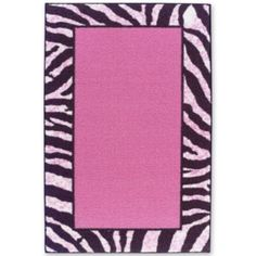 Tween Zebra Bordered Washable Rectangular Rugs from JCPenney