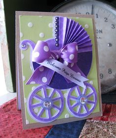 Baby Card made with Cricut cartridge New Arrival
