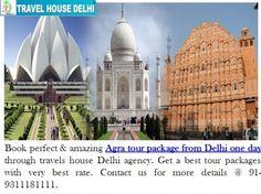Explore Agra beauty with Agra tour package from Delhi one day by Travel House Delhi http://www.travelhousedelhi.com/samedaytour.html